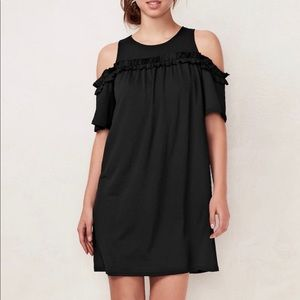 LC Lauren Conrad Ruffle Cold-Shoulder Dress